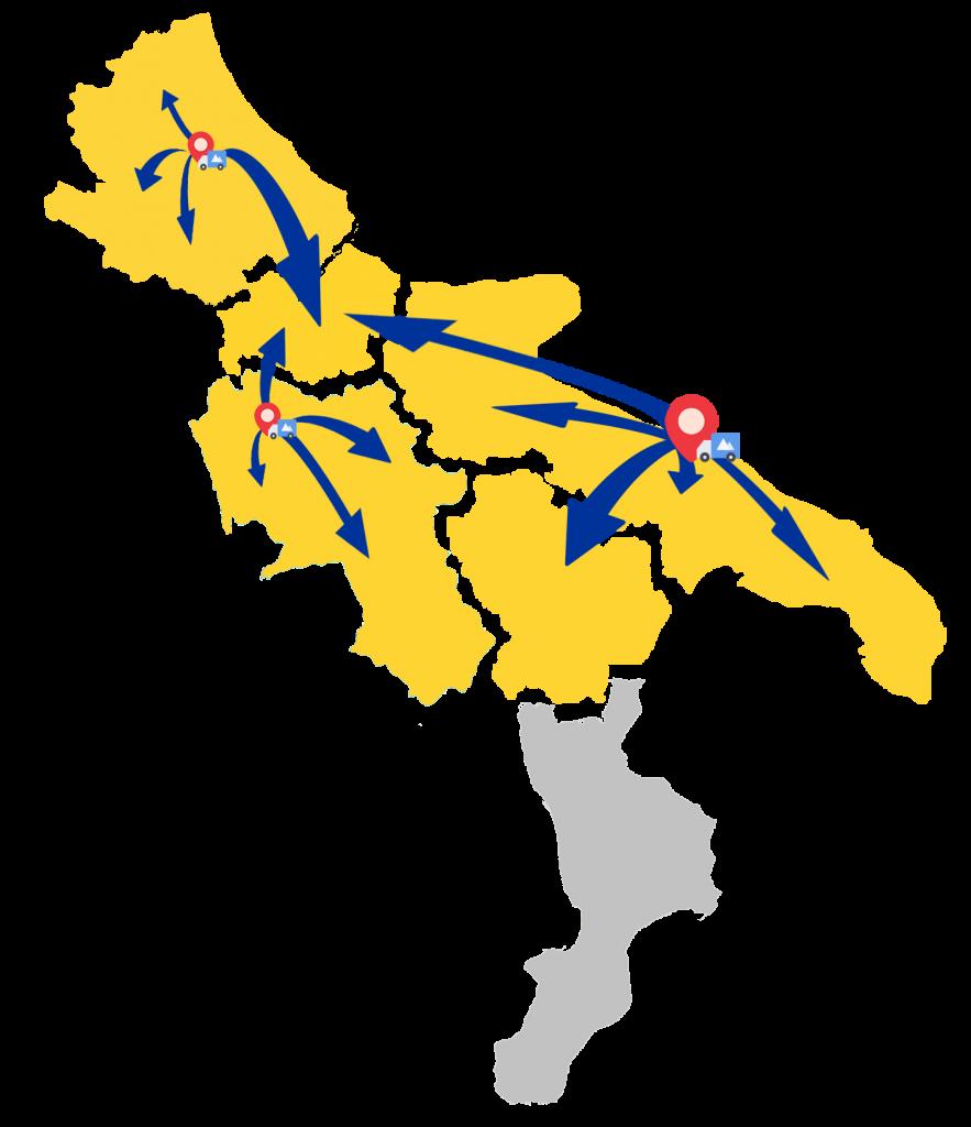 cartina geografia spedizioni di meno20